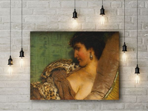 Alma-Tadema, Sir Lawrence: Cleopatra. Fine Art Canvas.